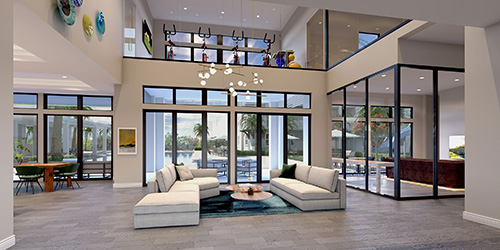 Clubhouse Living Area